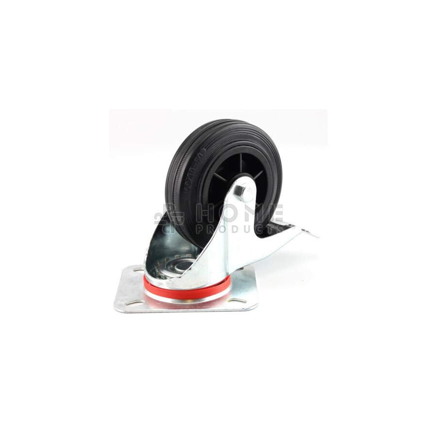 Swivel Castor with Brake Plastic RIM 125 mm