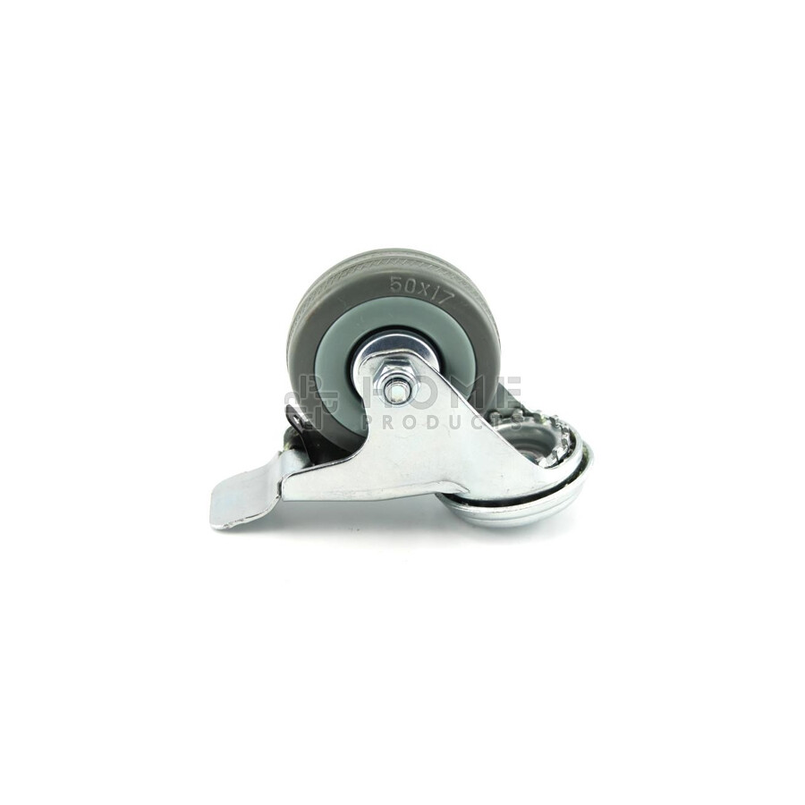 Swivel Castor with Brake grey 50 mm Bolt Hole