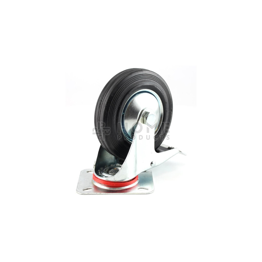 Swivel Castor with Brake metal RIM 200 mm