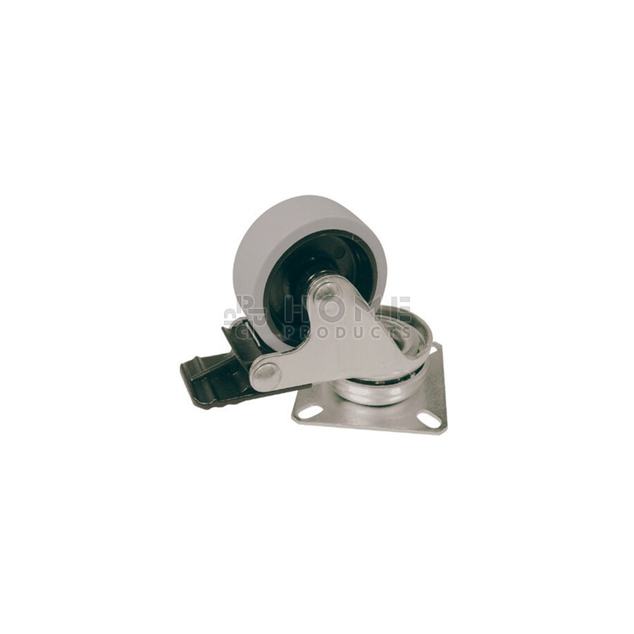 Castor Swivel PP with Brake gray Surface 50 mm