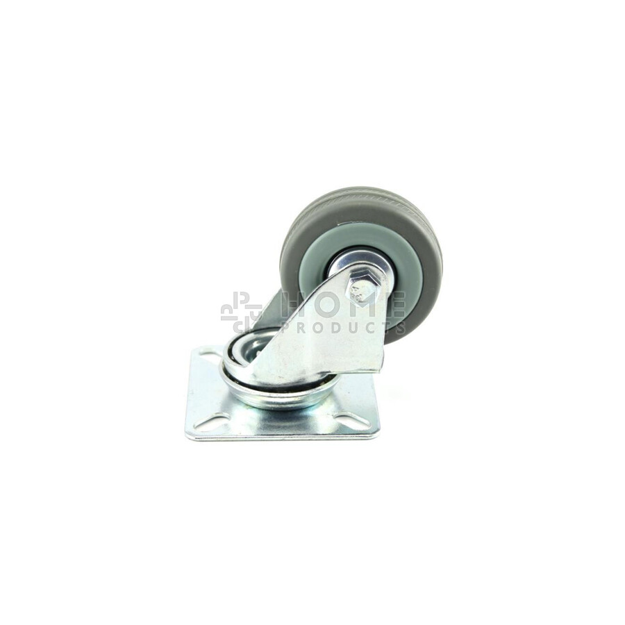 Swivel Castor grey 50 mm Platefitting