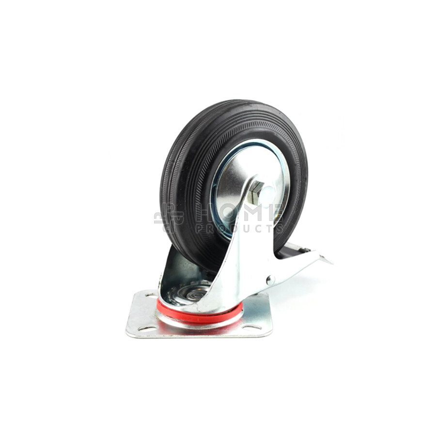 Swivel Castor with Brake Metal RIM 75 mm