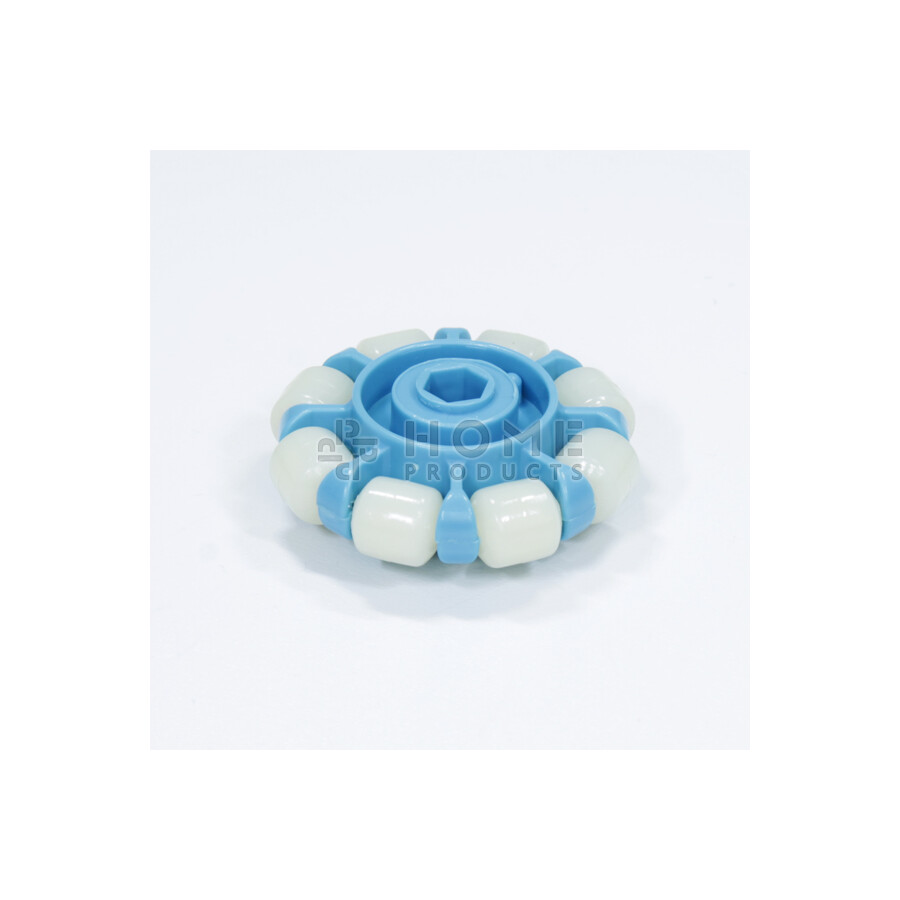 Multi-directional wheel with 8 rollers, 53.5 mm